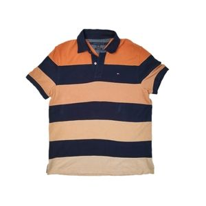 Tommy Hilfiger Ombre Striped Polo Short Sleeve Top